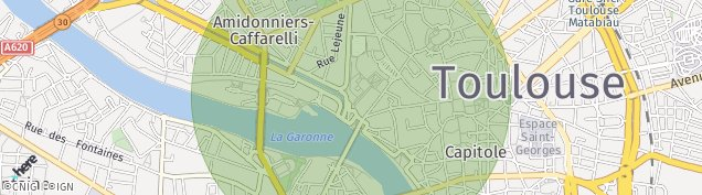 Carte de Toulouse