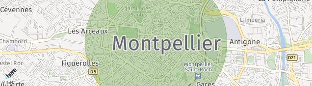 Carte de Montpellier