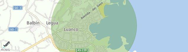 Mapa Luanco