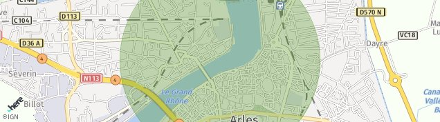 Carte de Arles