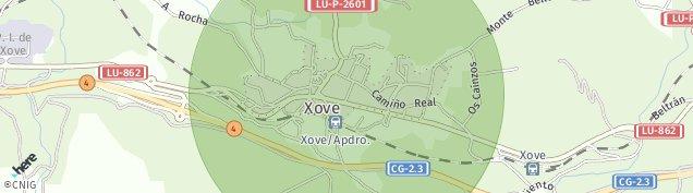 Mapa Xove