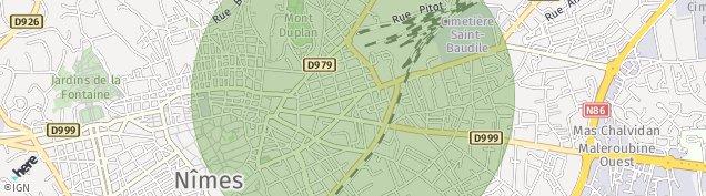 Carte de Nîmes