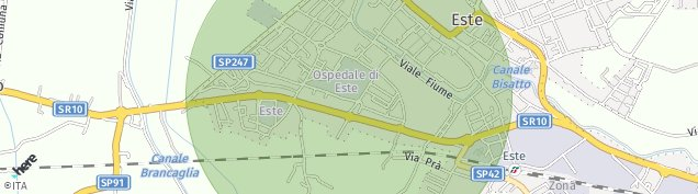 Map of Este