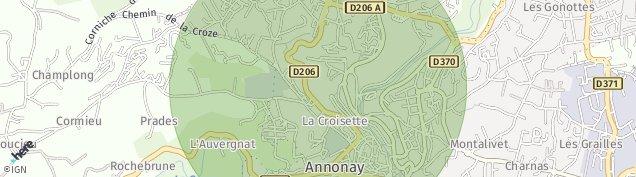 Carte de Annonay