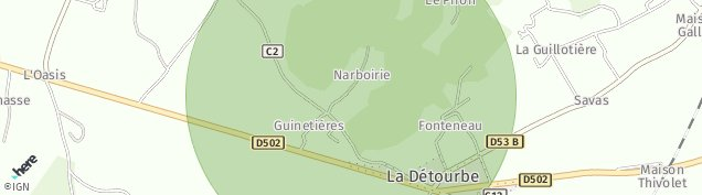 Carte de Moidieu-Détourbe