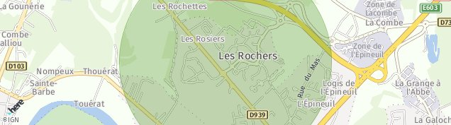 Carte de Saint-Yrieix-sur-Charente