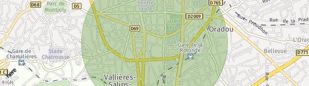 Carte de Clermont-Ferrand