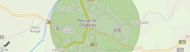 Carte de Peyrat-le-Château