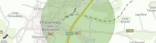 Carte de Chasseneuil-sur-Bonnieure