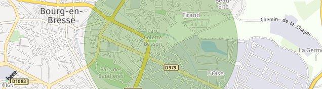 Carte de Bourg-en-Bresse