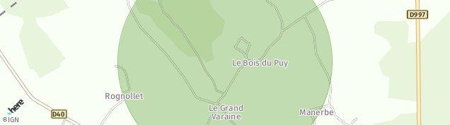 Carte de La Celle-sous-Gouzon