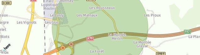Carte de Toulon-sur-Allier
