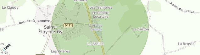 Carte de Saint-Éloy-de-Gy