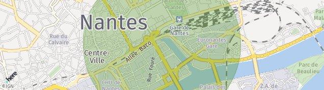 Carte de Nantes