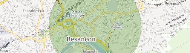Carte de Besançon