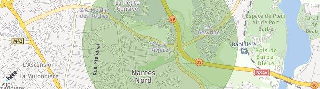 Carte de La Chapelle-sur-Erdre