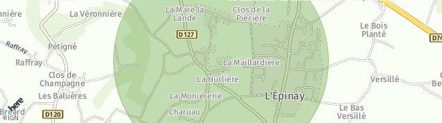 Carte de Saint-Melaine-sur-Aubance