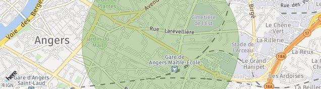 Carte de Angers