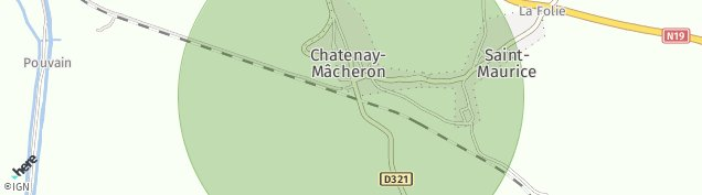 Carte de Chatenay-Mâcheron