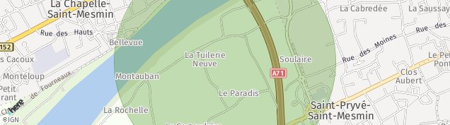 Carte de Saint-Pryvé-Saint-Mesmin