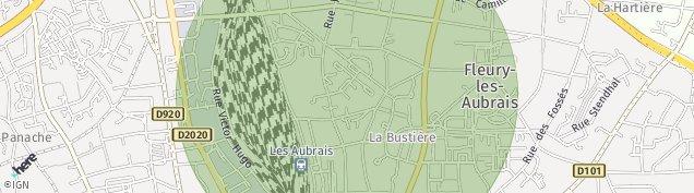 Carte de Fleury-les-Aubrais