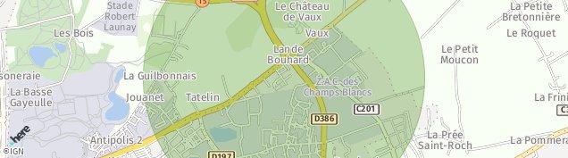 Carte de Cesson-Sévigné