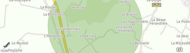 Carte de Montreuil-le-Gast