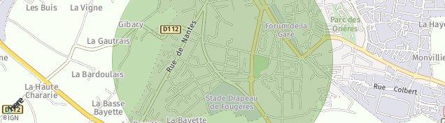 Carte de Fougères