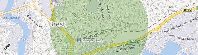 Carte de Brest