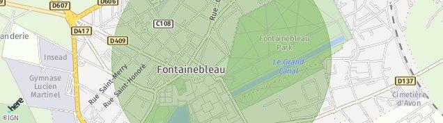 Carte de Fontainebleau