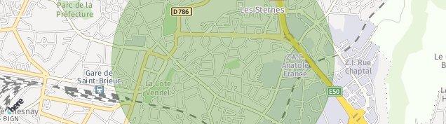 Carte de Saint-Brieuc