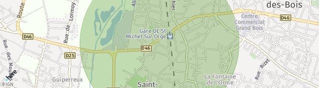 Carte de Saint-Michel-sur-Orge