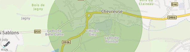 Carte de Chevreuse
