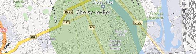 Carte de Choisy-le-Roi