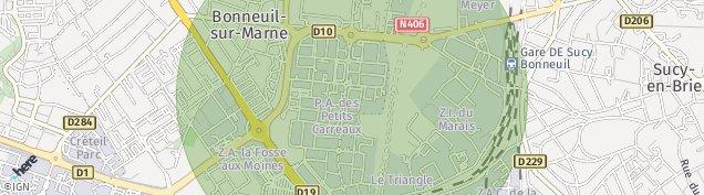 Carte de Bonneuil-sur-Marne
