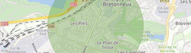 Carte de Montigny-le-Bretonneux