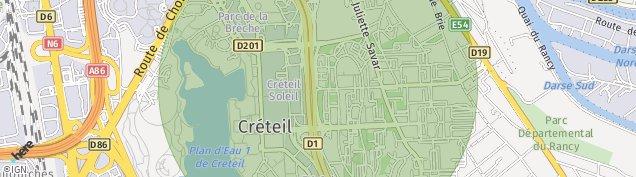 Carte de Créteil