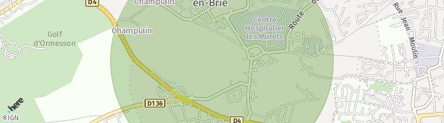 Carte de La Queue-en-Brie