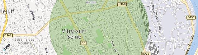Carte de Vitry-sur-Seine