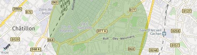 Carte de Bagneux