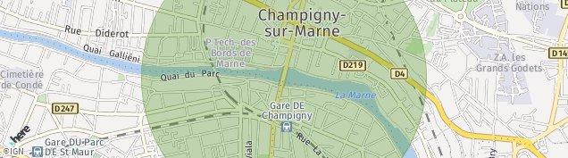 Carte de Champigny-sur-Marne