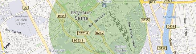 Carte de Ivry-sur-Seine