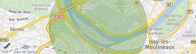 Carte de Boulogne-Billancourt