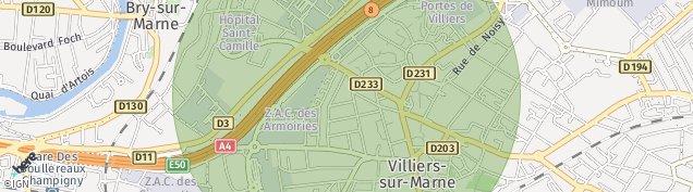 Carte de Villiers-sur-Marne