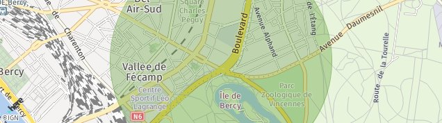 Carte de Saint-Mandé