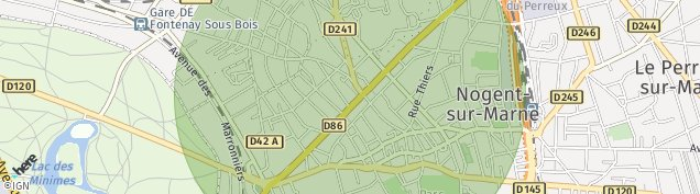Carte de Nogent-sur-Marne