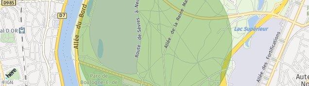 Carte de Saint-Cloud