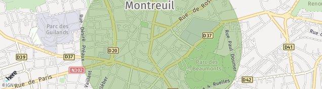 Carte de Montreuil