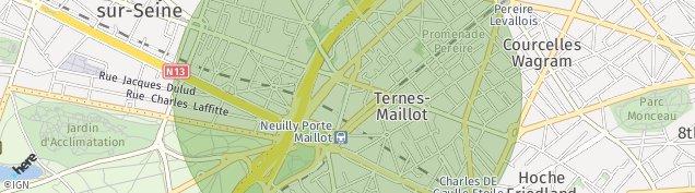 Carte de Neuilly-sur-Seine