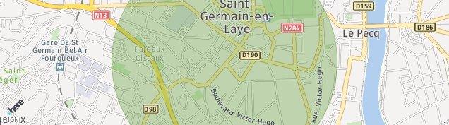Carte de Saint-Germain-en-Laye